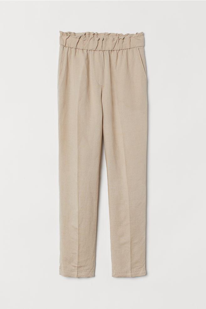 d9a14505 ... Pull on-bukser i hørblanding - Lys beige - DAME | H&M ...
