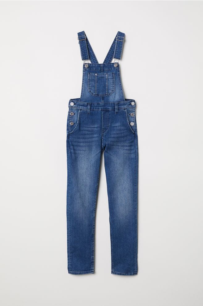 0008c0523ad86 Denim Bib Overalls - Denim blue - Kids | H&M ...
