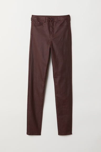 Super Skinny High Jeggings - Burdeos/Coated - MUJER | H&M ES