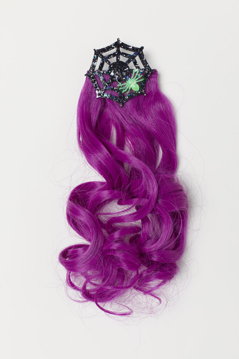 Hair clip with hair extensions - Purple - Kids | H&M