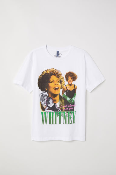 T-shirt with a motif - White/Whitney -  | H&M