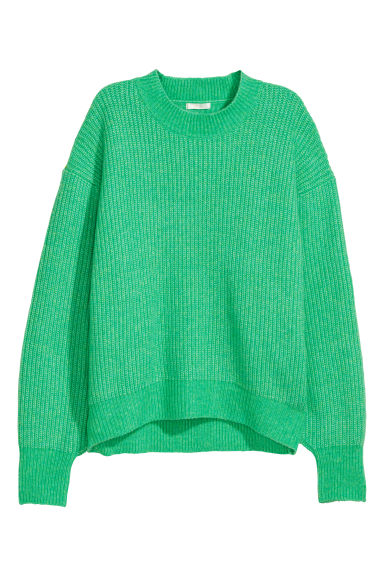 Ribbed jumper - Light green marl -  | H&M GB