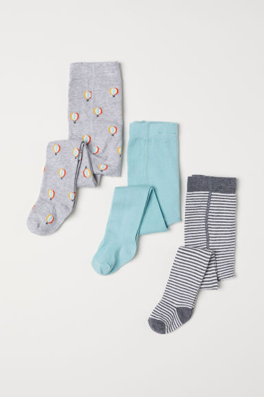 3-pack tights - Light grey marl/Balloons -  | H&M CN