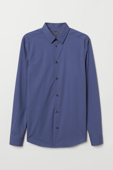 Premium cotton shirt - Blue - Men | H&M