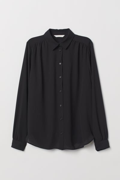 H&M - Long-sleeved blouse - 5