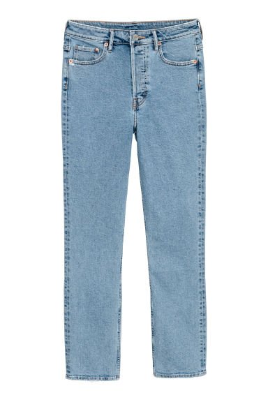 Slim Mom Jeans - Light denim blue -  | H&M CN