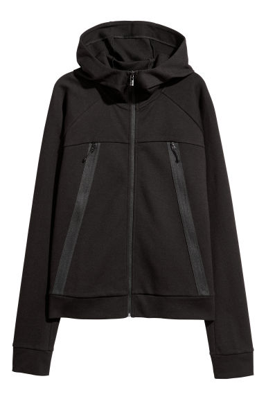 Outdoor jacket with a hood - Black -  | H&M