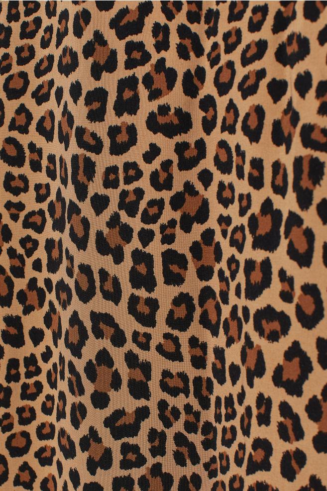 d540b88de6 ... V-neck Maxi Dress - Dark beige/leopard print - | H&M ...