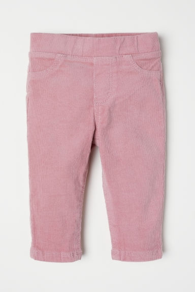 Corduroy treggings - Old rose - Kids | H&M