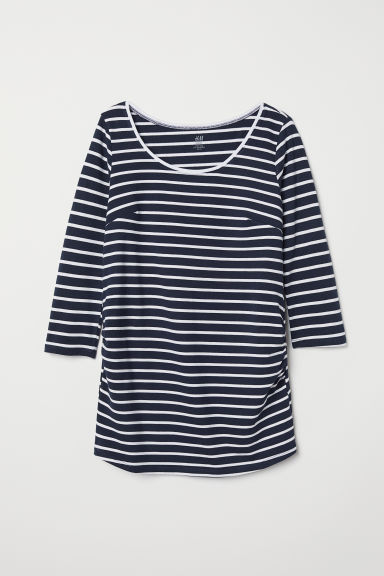 MAMA Jersey top - Dark blue/Striped - Ladies | H&M