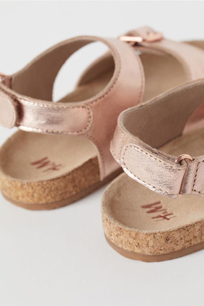 c83bd579fe3 ... Suede sandals - Rose gold-coloured - Kids