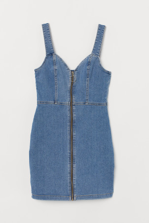 Short denim dress