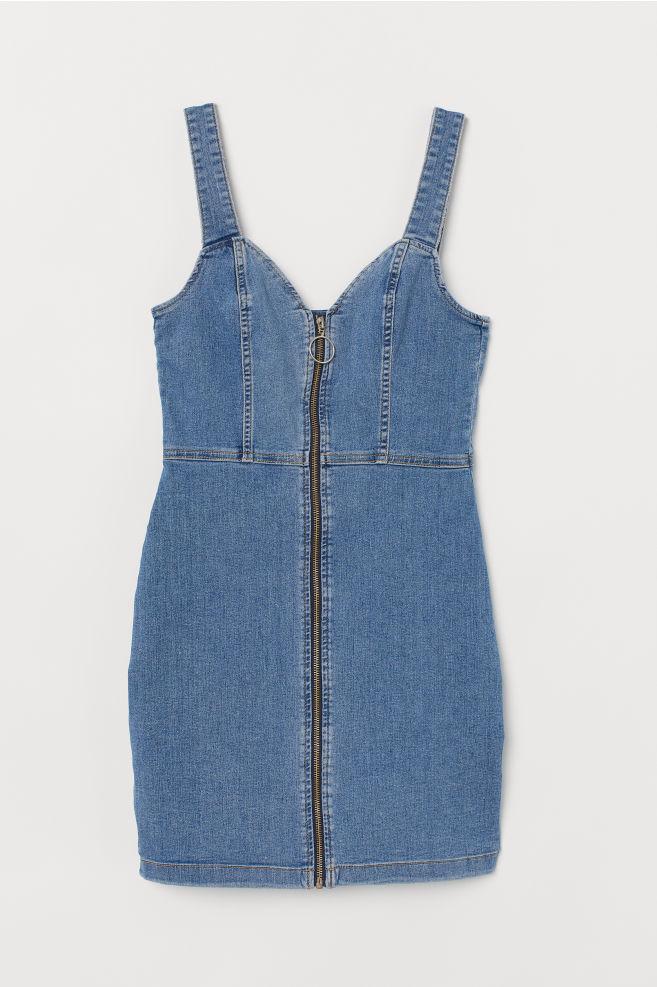 c666afbeda9 Short denim dress - Denim blue - Ladies