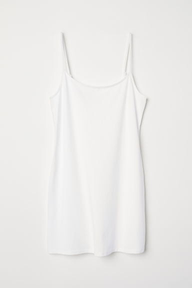 Long jersey strappy top - White - Ladies | H&M