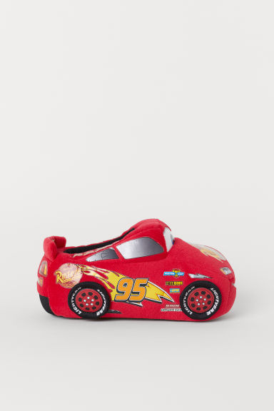 Soft slippers - Red/Cars -  | H&M