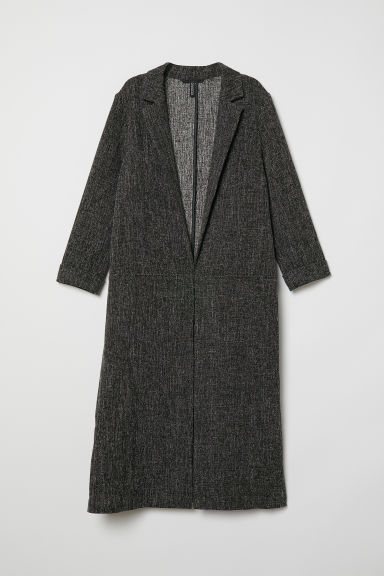 Long coat - Dark grey marl -  | H&M