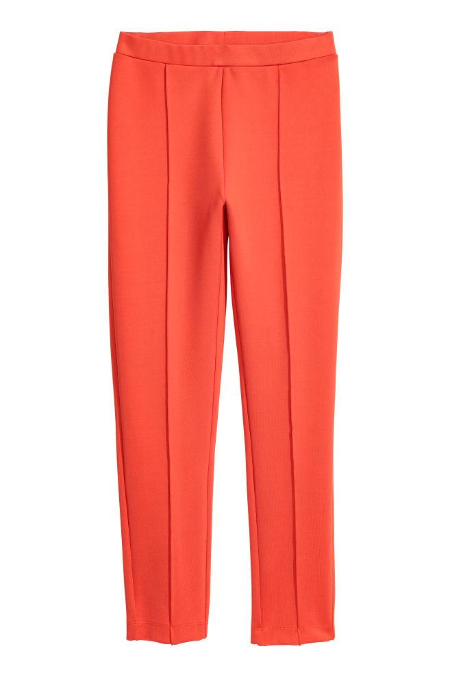 23ac99ee2177ea Leggings with a sheen - Orange - Ladies | H&M ...