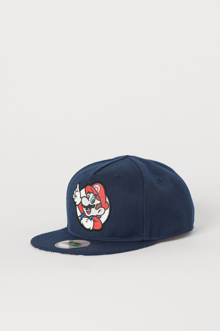 Cap with an appliqué - Dark blue/Super Mario - Kids | H&M CN