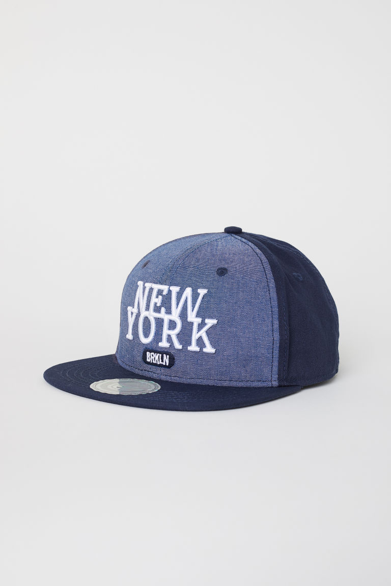 Cap with an appliqué - Dark blue - Kids | H&M CN