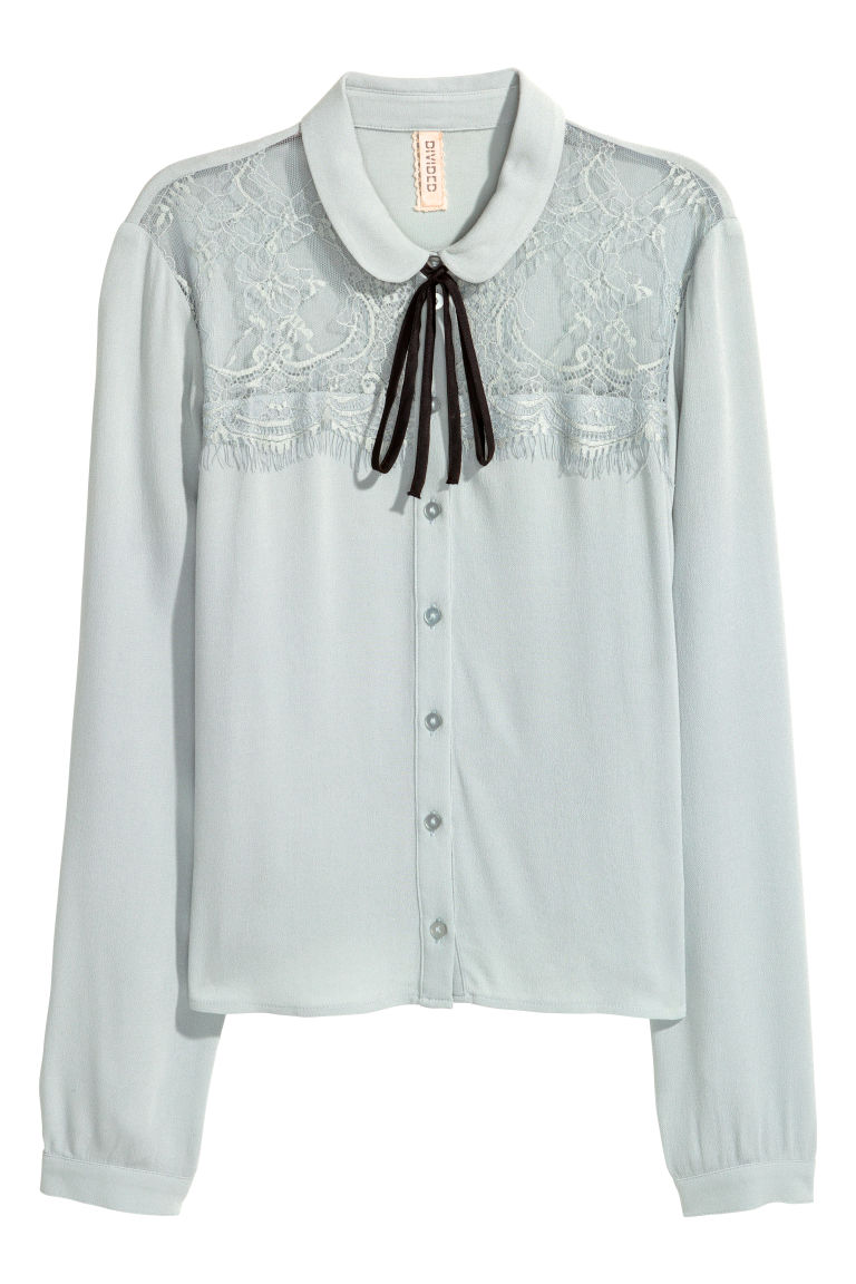 Short blouse - Light blue - Ladies | H&M