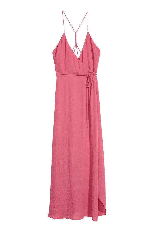 ddc312dfb4 Długa sukienka kopertowa - Antyczny róż - ONA