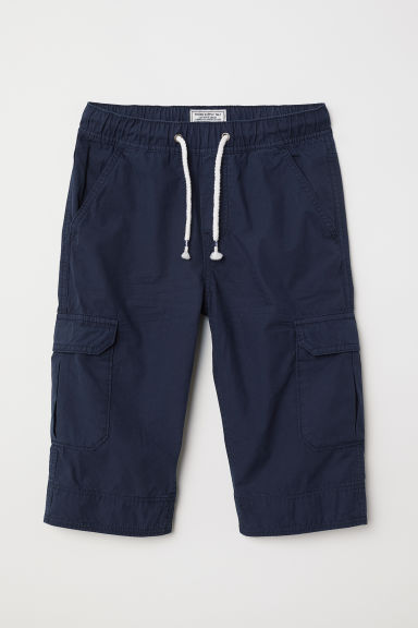 Long cargo shorts - Dark blue - Kids | H&M