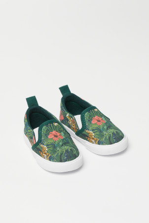 Mønstrede slip on-sneakers