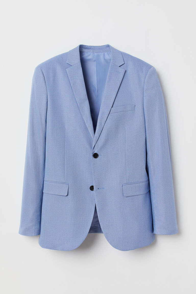 Jacket Slim Fit - Light blue - Men | H&M