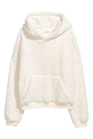 Pile hooded top - White -  | H&M