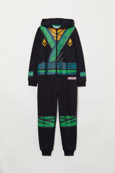 Sweatshirt all-in-one suit - Black/Ninjago - Kids | H&M CN