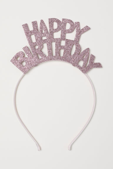 Alice band with appliqué - Pink/Happy Birthday - Ladies | H&M CN