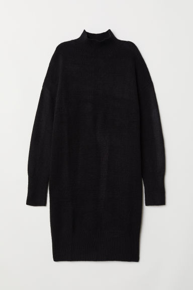 Knitted dress - Black - Ladies | H&M
