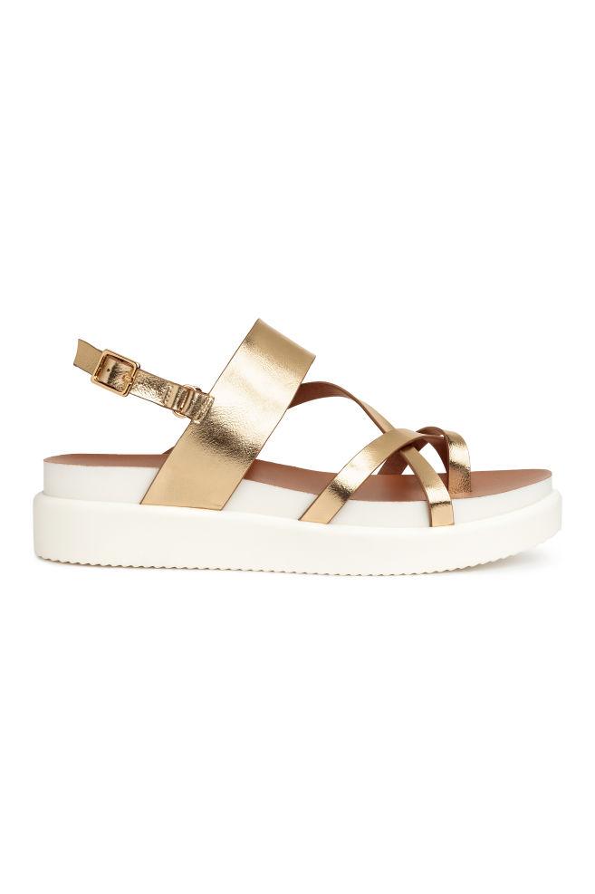 Platform sandals - Gold -
