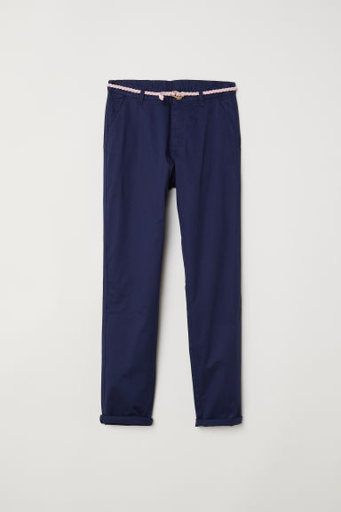 Chinos - Dark blue -  | H&M