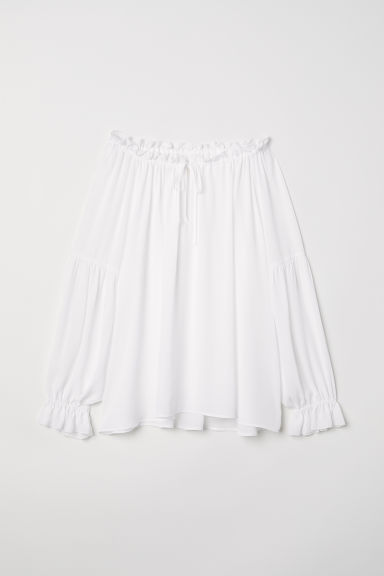 Wide blouse with ties - White - Ladies | H&M
