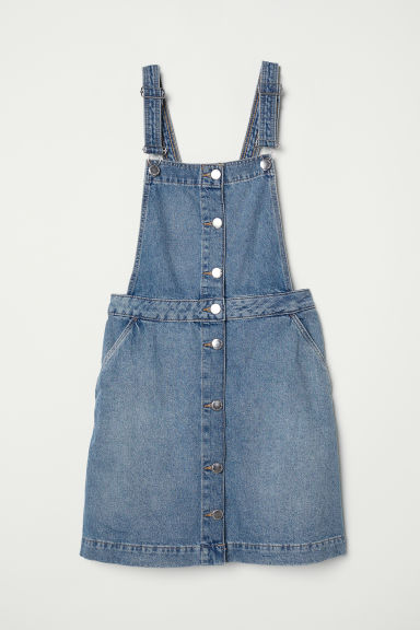 Dungaree dress - Denim blue -  | H&M CN