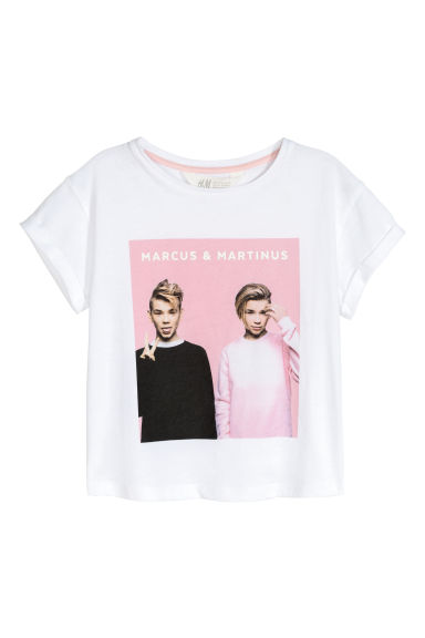 Printed T-shirt - White/Marcus & Martinus - Kids | H&M