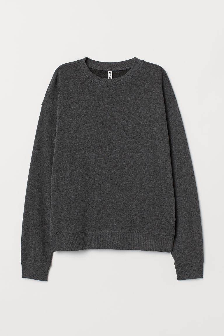 Sweatshirt - Dark grey marl -  | H&M GB