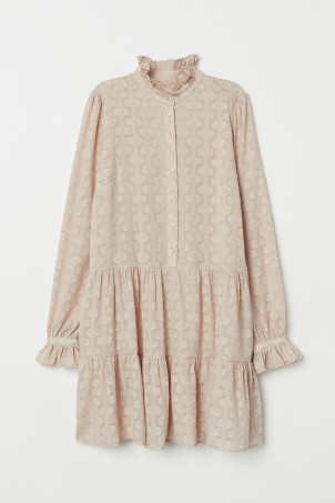 Wide-cut Flounced Tunic