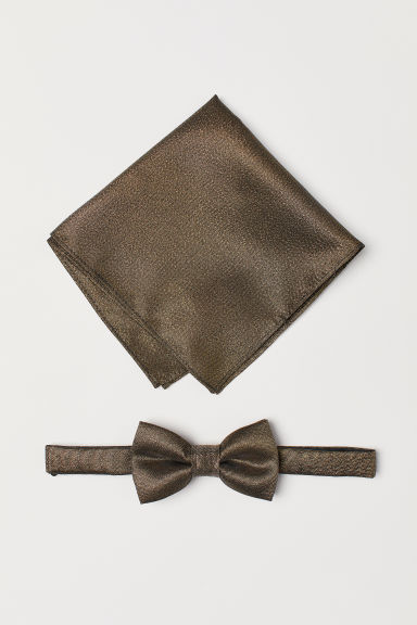 Bow tie and handkerchief - Gold-coloured - Men | H&M