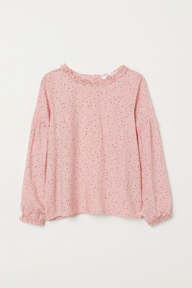 Patterned blouse - Pink/Spots - Kids | H&M CN