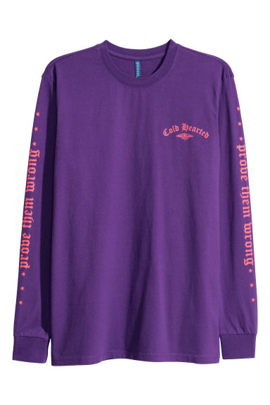 Long-sleeved top - Purple - Men | H&M