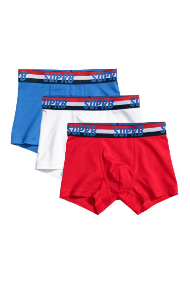 3-pack boxer shorts - Bright red -  | H&M