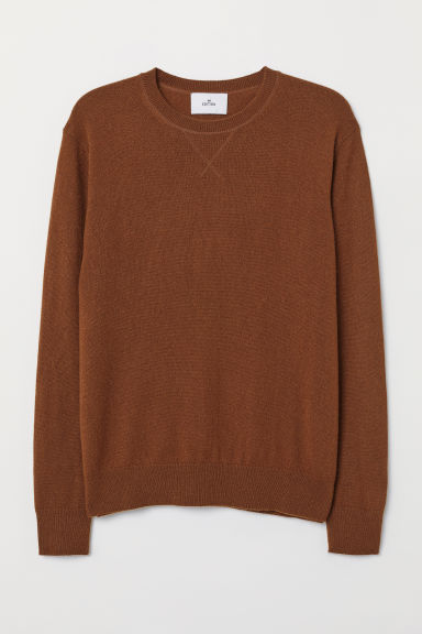 Cashmere jumper - Dark brown - Men | H&M GB