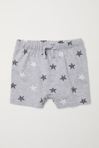 Jersey shorts - Light grey/Stars - Kids | H&M