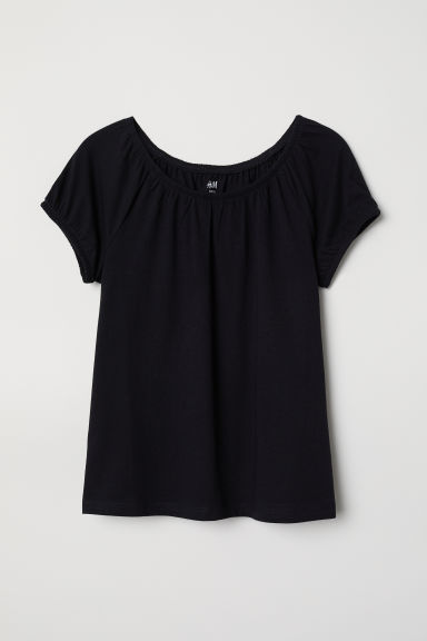 Cotton top - Black -  | H&M CN