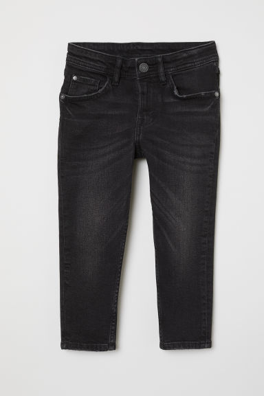 Relaxed Tapered Fit Jeans - Black denim - Kids | H&M
