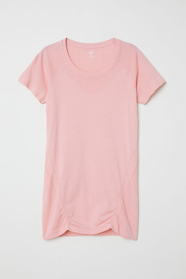 MAMA Top sportivo seamless - Rosa chiaro mélange - DONNA | H&M IT
