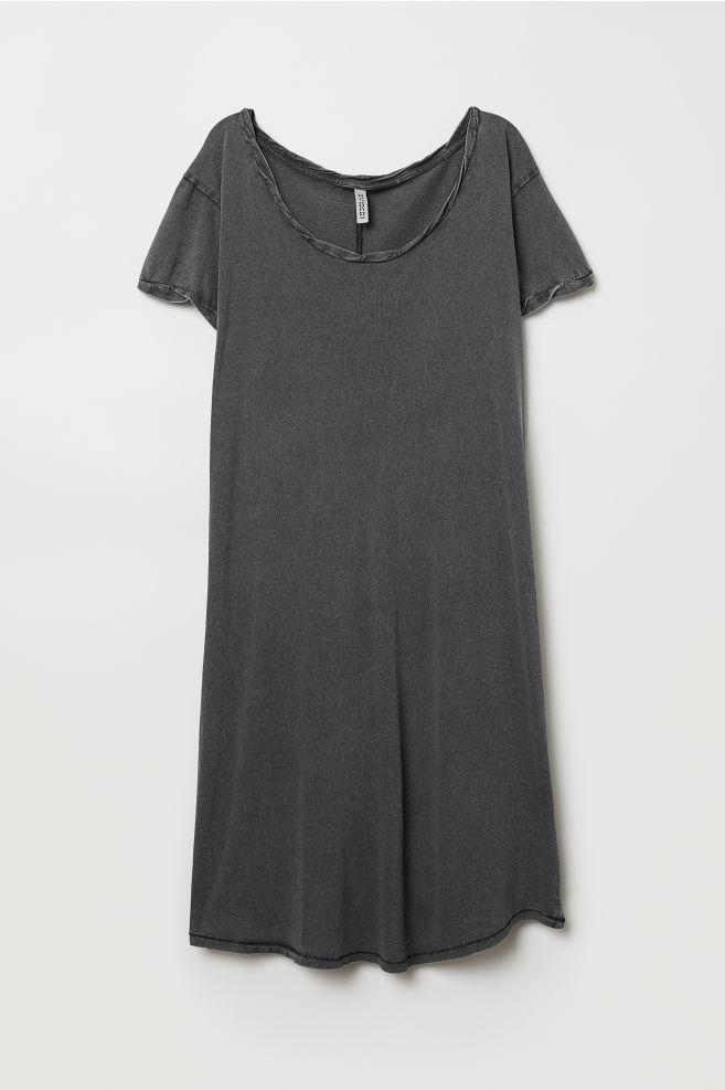 007b3f1b22 Short T-shirt Dress - Dark gray - Ladies