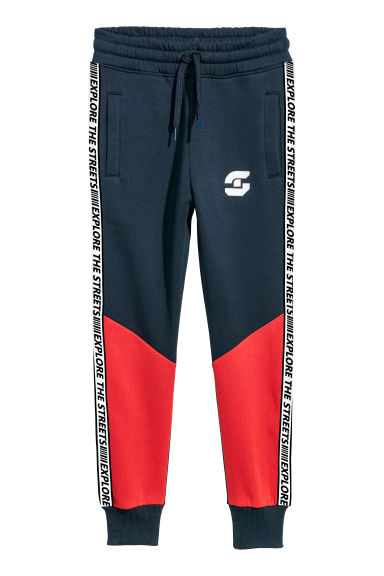 Joggers - Dark blue/Red -  | H&M CN